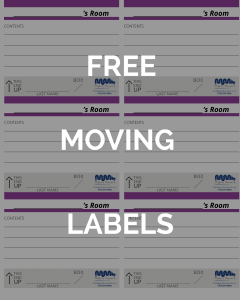 Moving Supplies Northern Virginia Packing Labels